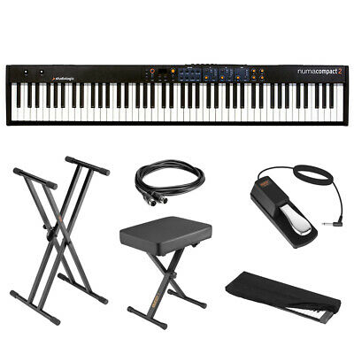 StudioLogic Numa Compact 2 88-Note Keyboard + Stand, Bench, Pedal, Cable & Cover • 373.07£