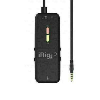 IK Multimedia iRig Pre 2 XLR Microphone Interface & Preamp For iOS/Android/Di...