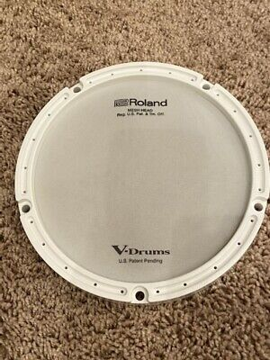 Roland PDX-6 Replacement Mesh Head With White Ring - NEW!  FREE SHIPPING! • 10.77£