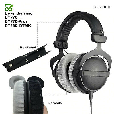 Velour Replacement Ear Pads Headband Beyerdynamic DT990 DT880 DT770 Headphones • 18.25£