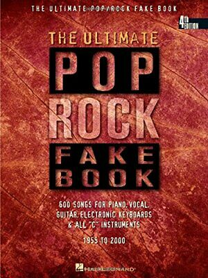 ULTIMATE POP/ROCK FAKE BOOK: C EDITION (FAKE BOOKS) By Hal Leonard Corp. *VG+* • 22.53£