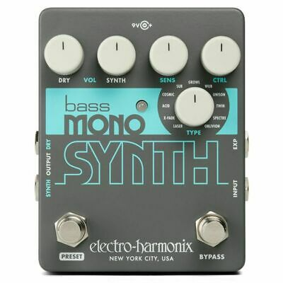 Electro Harmonix Bass Mono Synth Effects Pedal • 106.66£