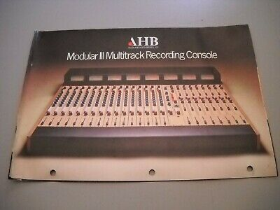 Allen And Heath, Mod-3 Mixing Console Brochure Manual