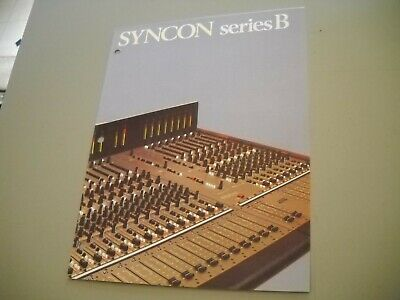 Allen And Heath, Syncon Series B Mixing Console Brochure Manual