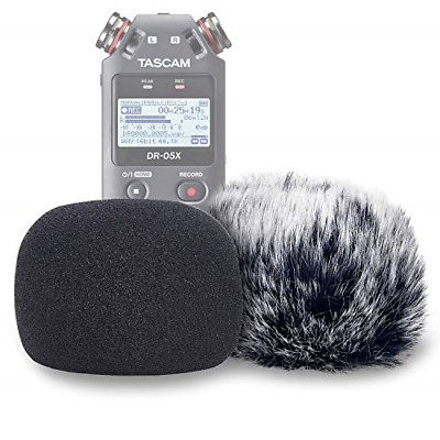 Windscreen Muff And Foam For Tascam Mic Recorders DR05X Indoor Outdoor Microp... • 18.47£