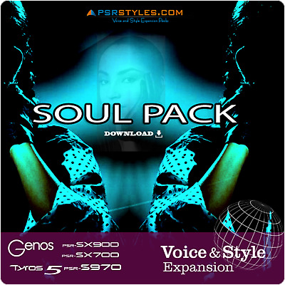 SoulPack Expansion Pack For YAMAHA Genos Tyros 5 PSR SX900 S975 S970 S770 SX700 • 7.20£