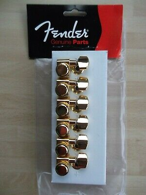 genuine fender gold modern deluxe locking tuners 2 pin locating 099-0818-200
