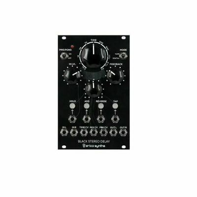 Erica Synths Black Stereo Delay Black Series Module