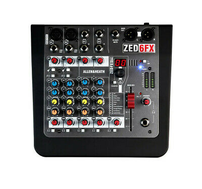 Allen and Heath ZED-6FX - 6 Channel Compact Analogue Mixer