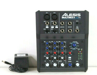 Alesis MultiMix 4 USB FX 4-Channel Mixer with Effects & USB Audio Interface e560