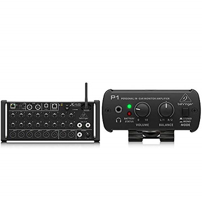 Behringer XR18 X Air Mixer & POWERPLAY P1 Personal In-Ear Monitor Amplifier