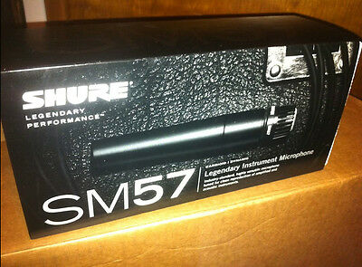 Shure SM57 Instrument And Vocal Wired Microphone - FREE Priority Mail Shipping! • 80.14£
