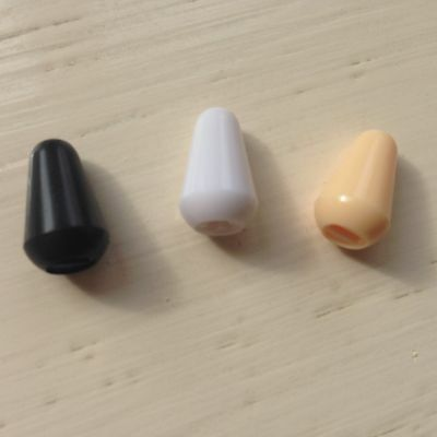 1x SWITCH TIP 3/5-way White/Black/Cream For Fender/Squier Type Electric Guitars • 1.45£