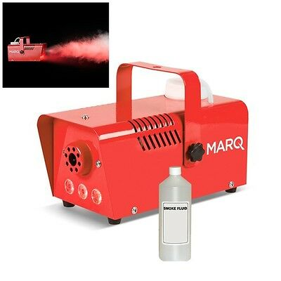 Marq Fog 400 LED Red DJ Party Smoke Fog Effects Machine With LED Lights & Fluid • 29.99£