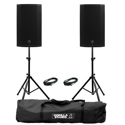 Mackie Thump 12A V4 Active 12  DJ Disco Musician PA Speakers Inc Stands & Cables • 495£