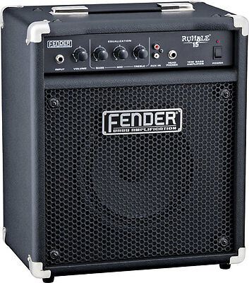 Fender Rumble 15 New Amplifier Combo Bass Electric • 322.60£