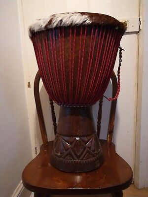 African Djembe, Drum, West Africa, Yachting Rope, Height: 23  Head Size: 13 . • 170£