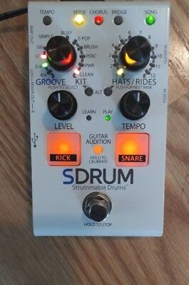 DigiTech SDRUM Strummable Drums Guitar Effects Pedal Auto Drum Machine.NEW W/box • 145.09£