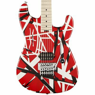 EVH Striped Series Red With Black And White Stripes • 786.46£