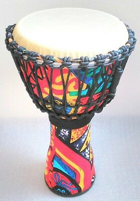 10  Djembe Drum African Design Large Bongo & Bag Traditional Hand Rope Tuned  • 64.99£