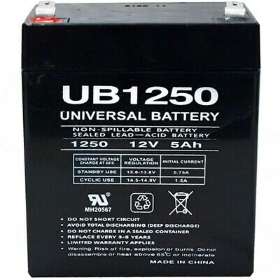 12V 5AH SLA Battery Replaces LD Systems Roadman 102(HS) Portable PA System • 11.30£