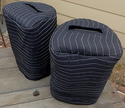 YAMAHA Stagepas 400i 400BT Padded Black Covers (2) Quantity Of 1 = 1 Pair! • 45.19£
