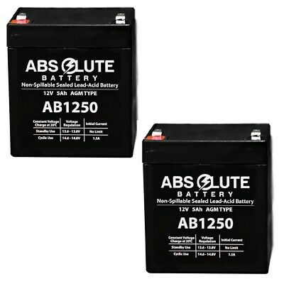 2PK NEW AB1250 12V 5AH Replacement Battery LD Systems Roadman 102(HS) PA System • 16.54£