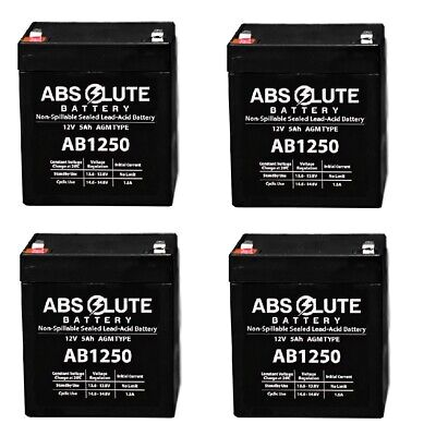 4PK AB1250 12V 5AH Replacement Battery For LD Systems Roadman 102(HS) PA System • 31.03£