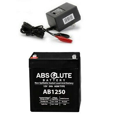 NEW AB1250 12V 5AH Battery LD Systems Roadman 102(HS) PA System & Charger • 14.13£