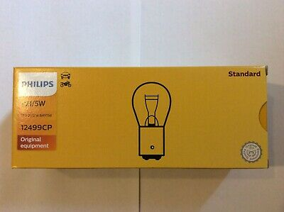 10 X (380) Genuine Philips Premium Quality Car Bulbs -12v 21/5W BAY15D -12499CP  • 14.99£