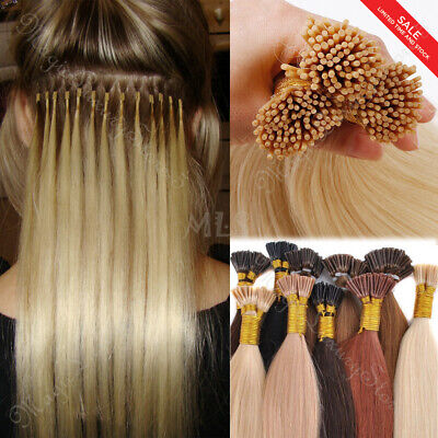1G/S Russian Remy Human Hair Extensions Micro Rings I Tip Bonds 200S/100G THICK • 95.65£