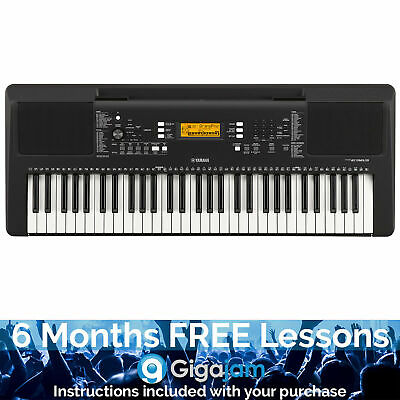 Yamaha PSRE363 Portable Keyboard With 6 Months Free Online Music Lessons • 185.61£