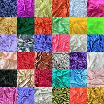 Crushed Velvet Fabric Upholstery Material Premium Stretch Craft 150cm Wide • 1.20£