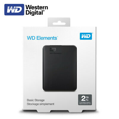 Western Digital 2TB Elements Portable External Hard Drive USB 3.0 With Tracking# • 75.01£