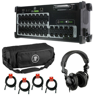 Mackie DL32S 32-Channel Wireless Mixer W/ Mixer Bag, Headphones & Cable • 1,215.61£