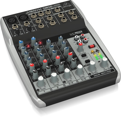 Behringer Q802USB Xenyx 8-Input 2-Bus Mixer With USB/Audio Interface • 127.46£