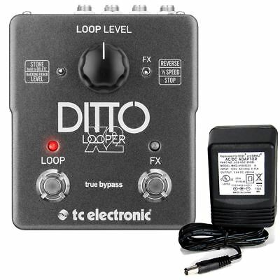 TC Electronic Ditto X2 Looper Pedal W/ 9v Power Supply • 144.77£