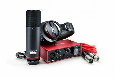 Focusrite Scarlett Solo Studio Pack 3rd Gen USB Audio Interface • 218.77£