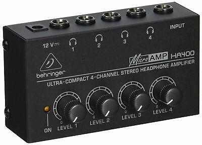 Behringer HA400 Microamp 4 Channel Stereo Headphone Amplifier • 20.72£