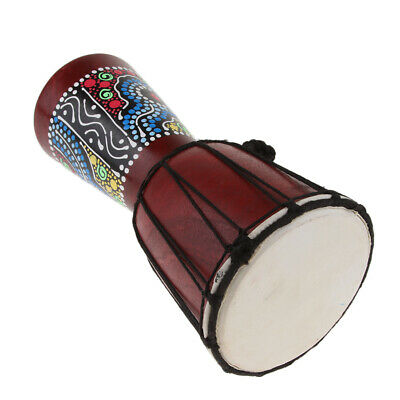 6  Handcraft African Djembe Drum Percussion Toy Home Decoration Display Gift • 16.46£