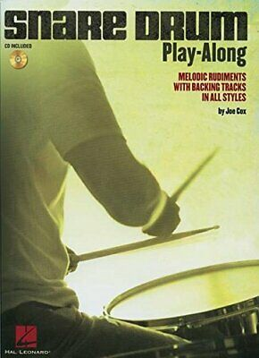 Snare Drum Play-Along Melodic Rudiments With Backing Tracks Drum BkCd Book  C • 22.95£