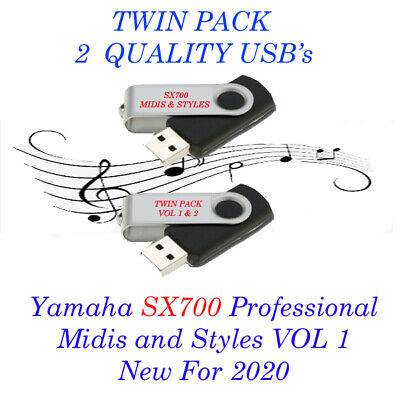 Yamaha  PSR SX700 Pro Midis With Styles New For 2020. Vol 1 And 2 Twin Pack USB. • 21.99£
