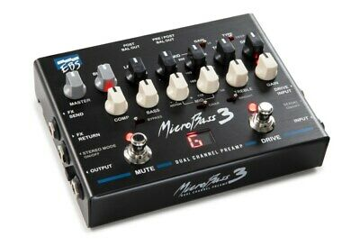EBS MB3 MicroBass 3 Professional Preamp Micro Bass Guitar Multi-Effects Pedal • 339.40£