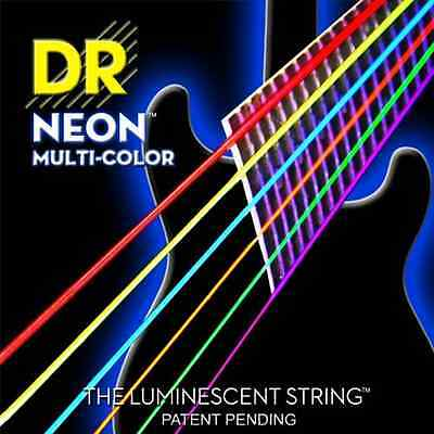 DR Strings NMCE10 Medium Hi-Def NEON™ Multi-Color: Coated Electric: • 9.06£
