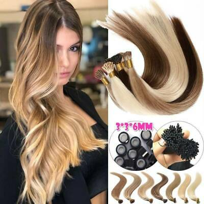 Russian Remy Human Hair Extensions Full Head Pre Bonded Micro Ring CLEARANCE UK • 87.55£
