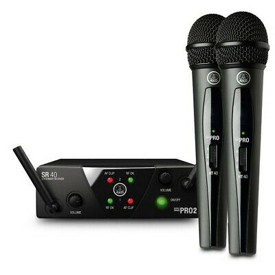 AKG WMS40 Mini Dual Wireless Vocal Microphone System, ISM2 - 3 (864 MHz) CH70 • 119£