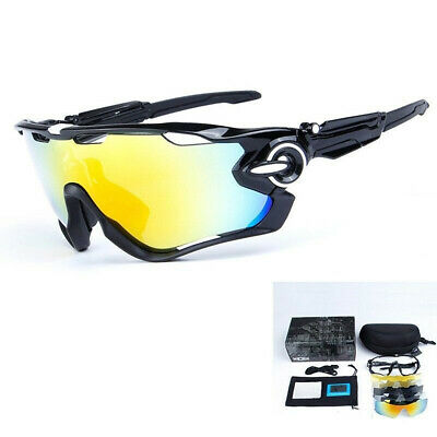 UKOBAOLAY Goggles Polarized Cycling Bike Sunglasses 5PCS Jawbreaker Lens Glasses • 14.31£