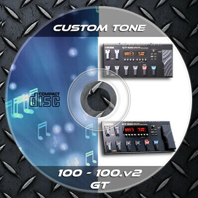 Patches BOSS GT-100 & GT 100v2. Multi Effects Processor. Custom Tone Library • 6.99£