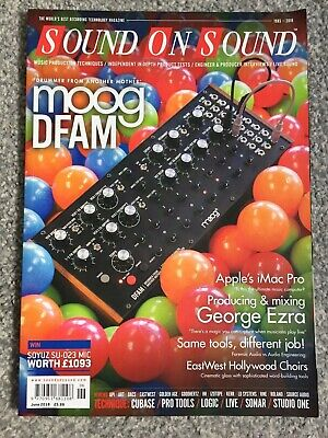 Sound On Sound Music Magazine - June 2018  Moog Dfam • 3.99£