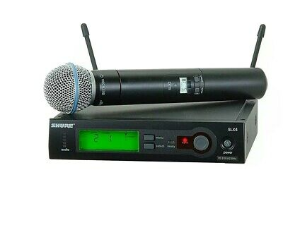 Shure SLX4 Transmitter / Beta 58A Channel H5-Handheld Wireless Microphone • 300£